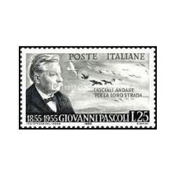 1 عدد تمبر صدمین سالگرد تولد پاسکولی - ایتالیا 1955