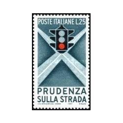 1 عدد تمبر کمپین مراقبت در رانندگی - ایتالیا 1957