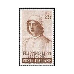 1 عدد تمبر 500مین سالگرد تولد لیپی - نقاش - ایتالیا 1957