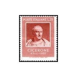 1 عدد تمبر 2000مین سالگرد مرگ سیسرو - سیاستمدار - ایتالیا 1957