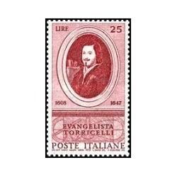 1 عدد تمبر 350مین سالگرد تولد توریچلی - ریاضی دان - ایتالیا 1958