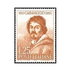 1 عدد تمبر 350مین سالگرد مرگ کاراواجیو - نقاش - ایتالیا 1960