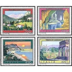 4 عدد تمبر تبلیغات گردشگری - نقاشی - ایتالیا 1982
