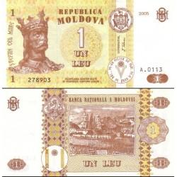 اسکناس 1 لیو  - مولداوی 2005