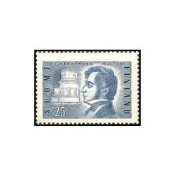 1 عدد تمبر 150مین سالگرد تولد ستاره شناس و شاعر نیرواندر - فنلاند 1955