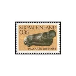 1 عدد تمبر صدمین سالگرد جامعه هنرمندان - فنلاند 1964