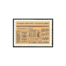 1 عدد 200مین سالگرد مطبوعات فنلاند - فنلاند 1971