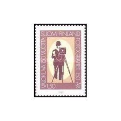 1 عدد تمبر 150مین سالگرد عکاسی - فنلاند 1989