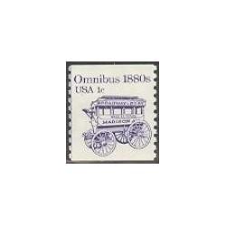 1 عدد تمبر اتوبوس 1880- آمریکا 1983