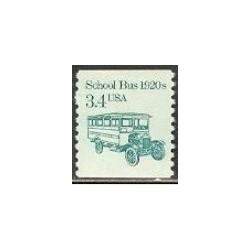 1 عدد تمبر اتوبوس مدرسه - آمریکا 1985