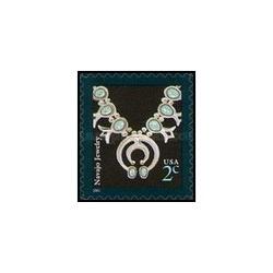 1 عدد تمبر طراحی آمریکا - جواهر نا واهو - خودچسب - آمریکا 2005