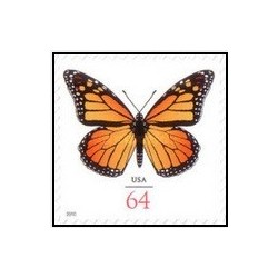 1 عدد تمبر پروانه - خودچسب - آمریکا 2010