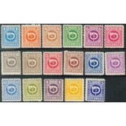 17 عدد تمبر سری پستی - اتریش 1945