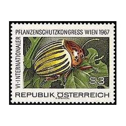 1 عدد تمبر 6مین سالگرد کنگره بین المللی حفاظت محصولات وین 1967 - اتریش 1967