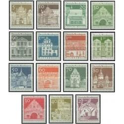 15 عدد تمبر سری پستی - سازه های ساختمانی قرن دوازدهم - جمهوری فدرال آلمان 1966