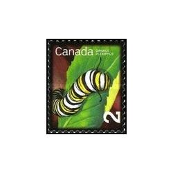 1 عدد تمبر حشرات مفید - پادشاه خون آشام - کانادا 2009