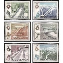 """6 عدد تمبر بازیهای المپیک زمستانی - سارایوو """" 84 ، یوگوسلاوی  - یوگوسلاوی 1983"""