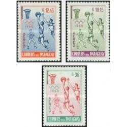 3 عدد تمبر پست هوایی - بازیهای المپیک - رم ، ایتالیا - پاراگوئه 1960