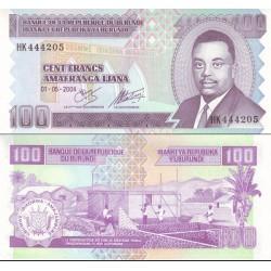 اسکناس 100 فرانک - بروندی 2004