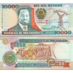 اسکناس 10000 متیکا - موزامبیک 1991