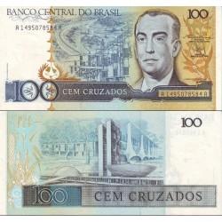 اسکناس 100 کروزادو - برزیل 1986