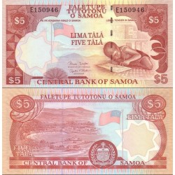 اسکناس 5 تالا - ساموا 2005 عنوان امضا Minister of Finance & Governor