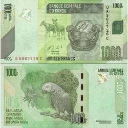 اسکناس 1000 فرانک - کنگو 2013