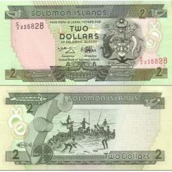 اسکناس 2 دلار جزایر سلیمان 1997 تک