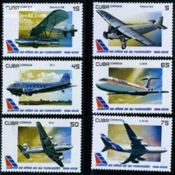 6 عدد تمبر هوانوردی - کوبا 2009