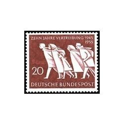 1 عدد تمبر دهمین سالگرد فرار اجباری - جمهوری فدرال آلمان 1955 قیمت 4.2 دلار