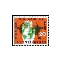 1 عدد تمبرنمایشگاه پلیس بین الملل - جمهوری فدرال آلمان 1956