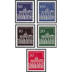 5 عدد تمبر سری پستی -برندن بورگر - برلین آلمان 1966