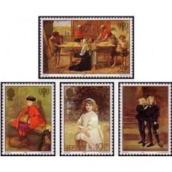 4 عدد تمبر سال جهانی کودک - 150مین سالگرد تولد جان اورت میلی - تابلو نقاشی  - جرسی 1979