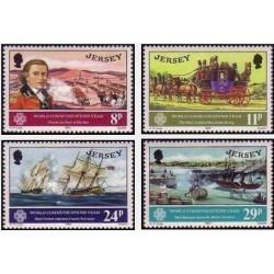4 عدد تمبر سال جهانی ارتباطات - جرسی 1983
