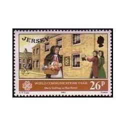 1 عدد تمبر سال جهانی ارتباطات - جرسی 1983