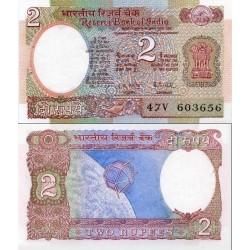 اسکناس 2 روپیه - هندوستان 1976 دارای اثر منگنه