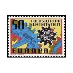 1 عدد تمبر مشترک اروپا - Europa Cept - لیختنشتاین 1967