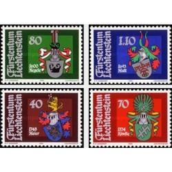 4 عدد تمبر نشان های ملی - لیختنشتاین 1981