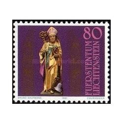 1 عدد تمبر 1600مین سالگرد سنت تئودول - لیختنشتاین 1981