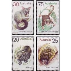 4 عدد تمبر پستانداران - استرالیا 1974