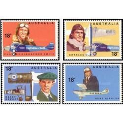 4 عدد تمبر 50مین سالگرد اولین پرواز بر فراز اقیانوس آرام - استرالیا 1978
