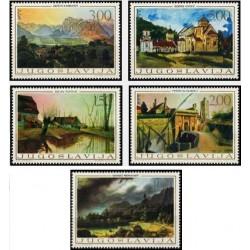 5 عدد تمبر هنر بومی - نقاشیهای قرن نوزدهم - یوگوسلاوی 1968