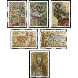 6 عدد تمبر هنر موزاییک - نقاشی - یوگوسلاوی 1970