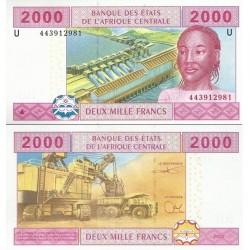 اسکناس 2000 فرانک - آفریقای مرکزی 2002