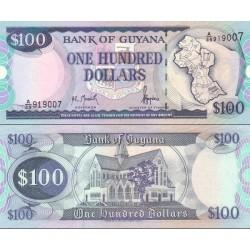 اسکناس 100 دلار - گویانا 1999