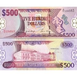 اسکناس 500 دلار - گویانا 2000