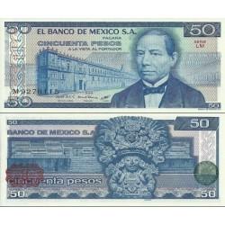 اسکناس 50 پزو - مکزیک 1981
