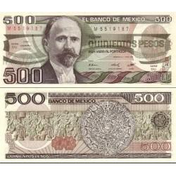 اسکناس 500 پزو - مکزیک 1984 سری DU