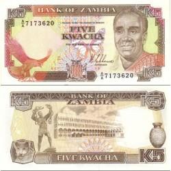 اسکناس 5 کواچا - زامبیا 1989