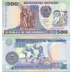 اسکناس 500 متیکا - موزامبیک 1991